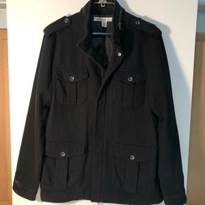 Kenneth Cole NY Men's Wool-Blend Military Jacket